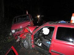Při vážné nehodě u Děpoltovic se zranilo osm lidí.