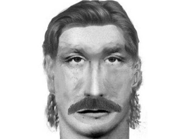 Policejní identikit pachatele přepadení.