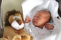 Tobiáš Bláha z Karlových Varů se narodil 16. 8. 2013