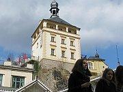 Zámecká věž v Karlových Varech.
