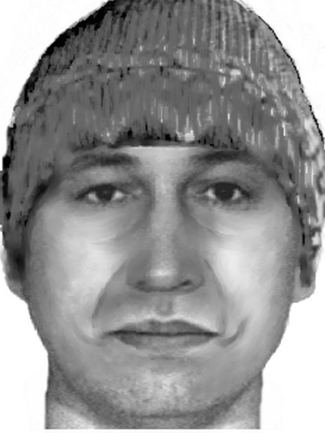 Policejní identikit: Podobizna pachatele, který 22. ledna letošního roku kolem půl třetí odpoledne kradl v sázkové kanceláři CHANCE v ulici K. H. Borovského v Sokolově.