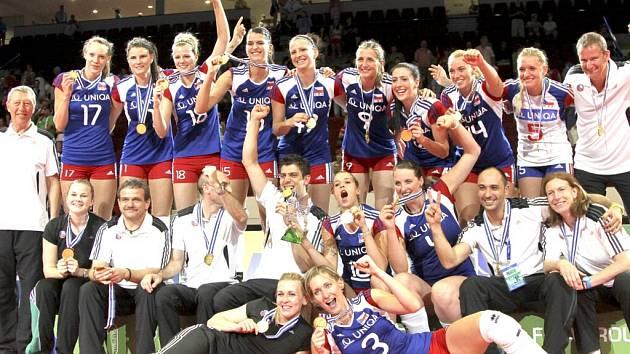Velkým úspěchem skončila účast české volejbalové reprezentace žen ve Final Four v KV Areně.