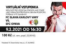 Fanoušci Slavie se sice kvůli opatřením na stadion nedostanou, ale karlovarský klub mohou podpořit zakoupením virtuální vstupenky a mohou tak v této těžké době pomoci svému klubu.