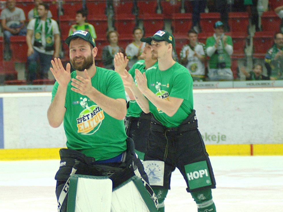 Hokejisté HC Energie slaví postup do extraligy