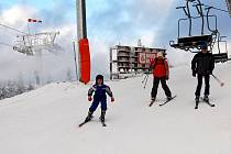 První lyžování v Krušných horách
