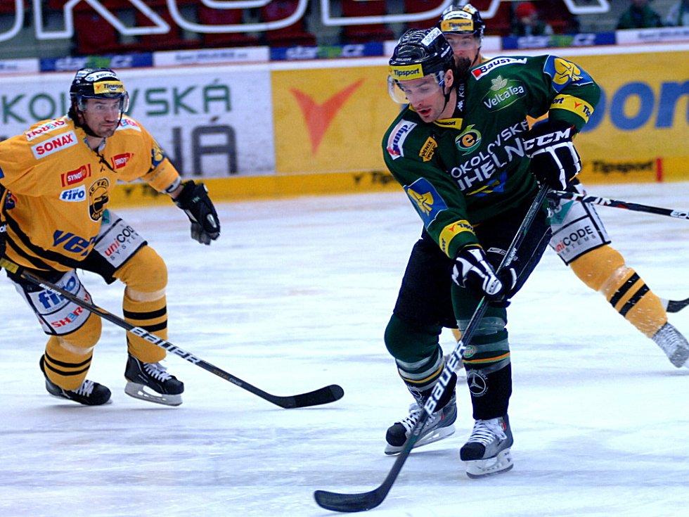 Energetici zvládli další důležitý zápas v play-out. Jako první se sice prosadil Litvínov, poté se ale pětkrát v řadě radovali hráči v zelených dresech.