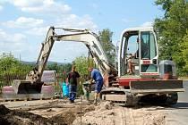Práce v Sadově má firma dokončit v závěru srpna.
