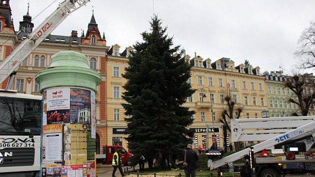 Vánoční strom města Karlovy Vary