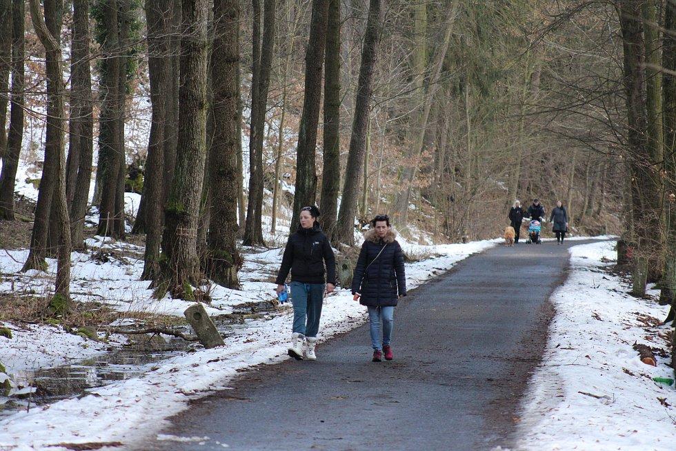 Krásné sobotní počasí vylákalo opět ven lidi. Do Svatošských skal proudila procesí. Hejtman Petr Kulhánek říká, že obyvatele kraje chápe. Podle něho i na procházkách ale mají dodržovat nařízení, tedy zejméma roušky a nevytvářet shluky několika rodin.