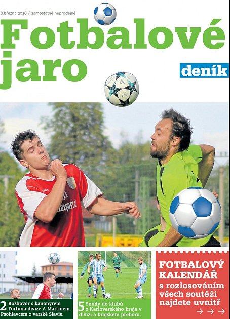 Fotbalovou přílohu Jaro 2018věnovanou startu jarní části soutěží od České fotbalové ligy po I. B třídu připravil pro své čtenáře Deník.