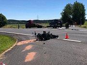 Místo tragické dopravní nehody.