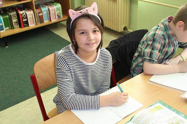 Žáci první třídy ze Základní školy Marie Curie-Sklodowské vJáchymově.