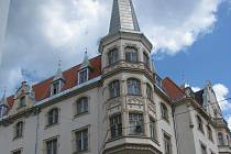 Secesní Národní dům v Karlových Varech.