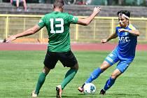 Sokolovský stoper Václav Neudert (číslo 13), napomohl svým výkonem k výhře na půdě Auerbachu 2:1.