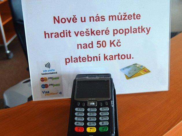 Nový terminál pro platby kartou