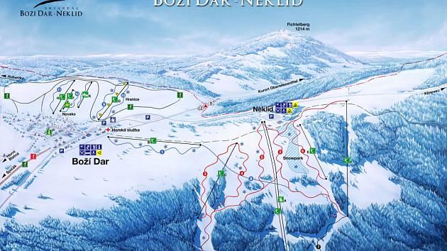 Skiareál Boží Dar - Neklid.