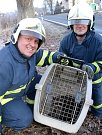 Mýval Míša si udělal výlet z minizoo, domů ho vraceli hasiči