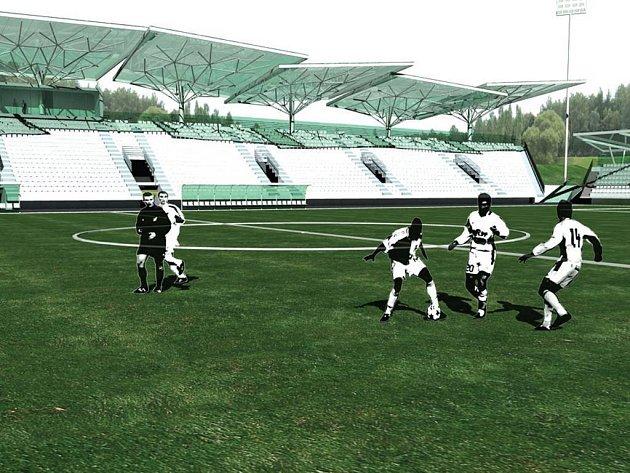 Sokolovští fotbalisté, hrající druhou ligu, získali do výpůjčky pozemky pro nový stadion. Náčrt představili veřejnosti.