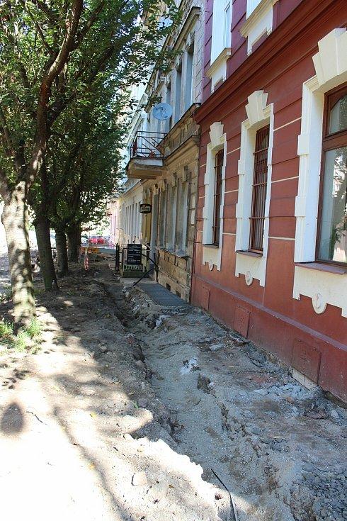 Jízdárenská ulice prochází v současnosti náročnou rekonstrukcí.