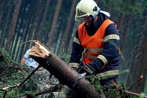 Silný vítr a déšť zaměstnal od pátku i hasiče v Karlovarském kraji.