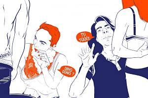 Obsah pochází ze stejnojmenného blogu. Stereotypy provází i vtipné ilustrace jako tato, kde je glosován první partnerský sex.