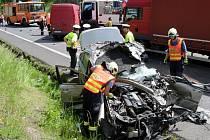 Hromadná nehoda pěti automobilů u Žalmanova.