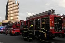 Požár v sauně hotelu Thermal