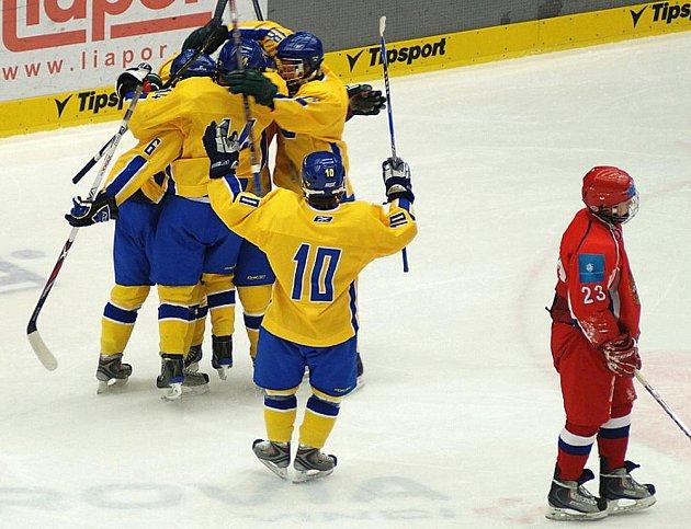 V prvním utkání mezinárodního Turnaje čtyř změřily své síly týmy Ruska a Švédska.