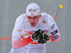 ÚSPĚŠNÝ SPORTOVEC, běžec na lyžích Lukáš Bauer.