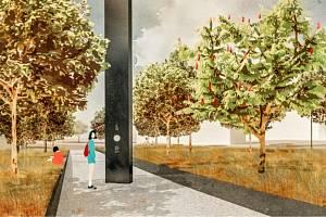 Vizualizace nového památníku v Ostrově.
