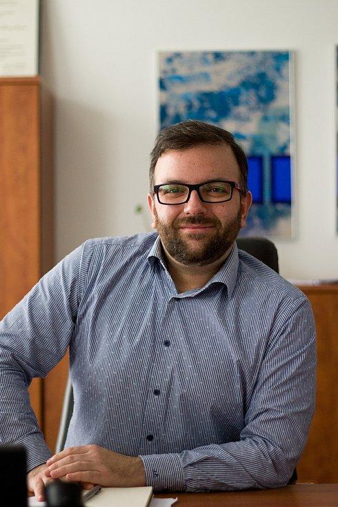 Krajský radní Jindřich Čermák ve své kanceláři.