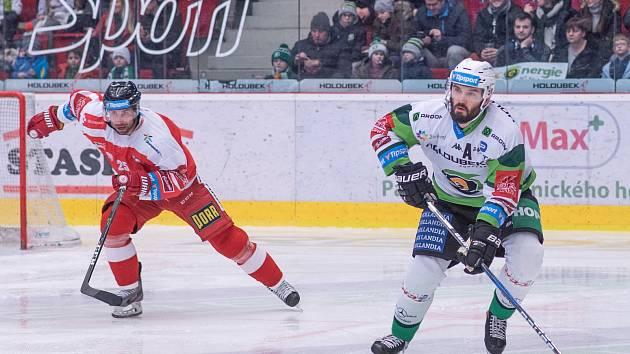 Utkání hokejové Tipsport extraligy HC Energie Karlovy Vary - HC Olomouc