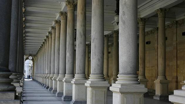 Mlýnská kolonáda v Karlových Varech.
