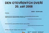 Státní podnik Povodí Ohře pořádá pro veřejnost  Den otevřených dveří, který se koná vsobotu 20. září 2008 od 9 do 16 hodin.