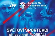 Florbalového turnaje se zúčastní několik sportovní hvězd.