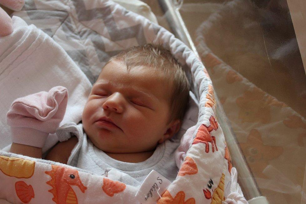Sofie Slezáková (3470 g) se narodila 12. července 2021 ve 14:54 vplzeňské fakultní nemocnici. Na světě svoji prvorozenou holčičku společně přivítali rodiče Erika a Martin z Tachova.
