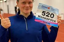Nejúspěšnější atletkou výpravy karlovarského Triatletu byla v Ostravě koulařka Klára Markofová, která brala 7. místo.