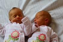 Karolína a Kristýna Vysekalovy z Karlových Varů se narodily 25. března.