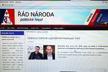Setkání s karlovarským primátorem už zveřejnil Řád národa na svých webových stránkách.