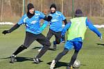 Karlovarská Lokomotiva (v modrém) musela skousnout od Staré Role porážku 3:7.