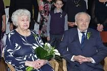 VLASTA A FRANTIŠEK LECHNÝŘOVI při obnově manželského slibu.