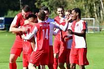 Karlovarská Slavia se drze vyšlápla na favorizované Domažlice, kterým přichystala porážku 0:3.