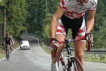 Ladislav Fabišovský (na snímku) patří k nejúspěšnějším závodníkům horské časovky na Andělku.