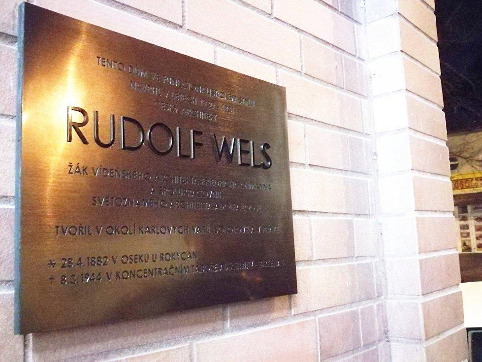 Známého architekta Rudolfa Welse připomíná nová pamětní deska