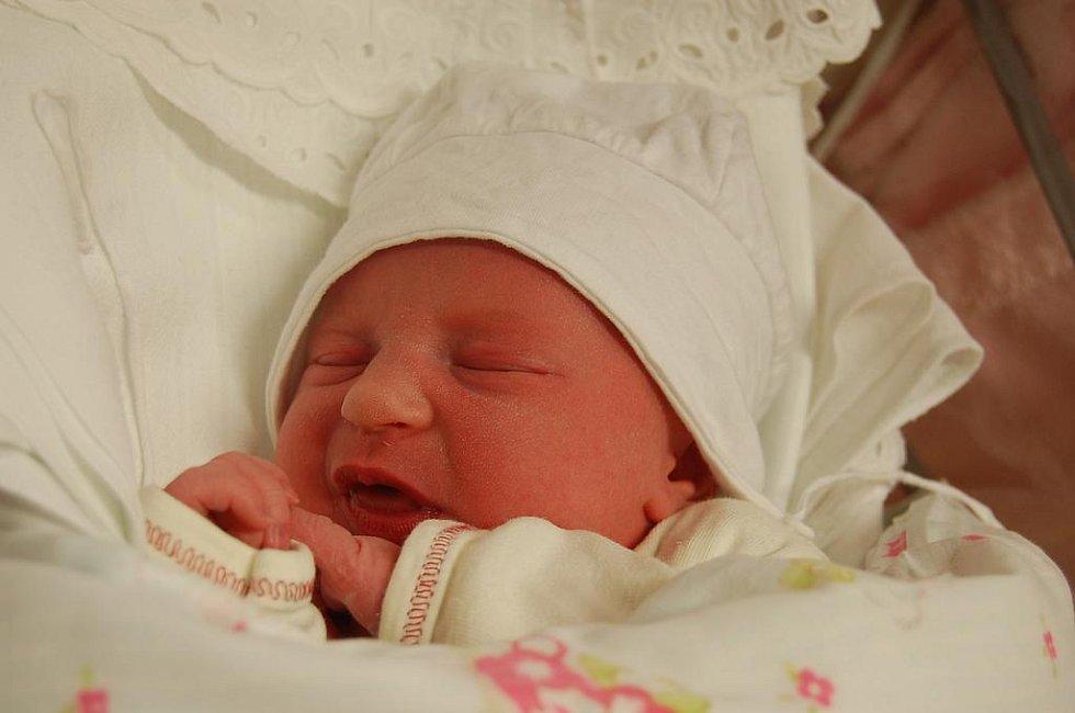 Terezka se narodila 1. ledna v 10.45 hodin. Vážila 3100 gramů a měřila 49 centimetrů