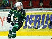 Hokejisté HC Energie (v zeleném ) hostili celek SK Kadaň.