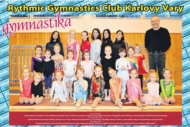 Sportovní klub moderní gymnastiky RGC Karlovy Vary.