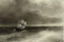Ivan Konstantinovič Ajvazovskij - Plachetnice na rozbouřeném moři.