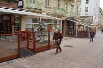 Žádnou Matějskou pouť, tedy předzahrádky, které hýří barvami, současné vedení města nechce. Ilustrační foto.