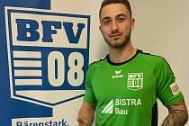 Gólman Lukáš Kýček v letošní sezoně hájí barvy účastníka regionální ligy, německého Bischofswerdear FV 08.